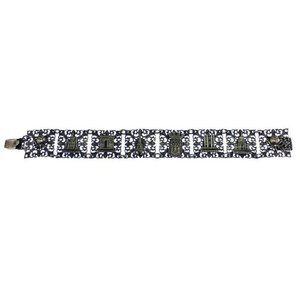 Silver Filigree Paris Souvenir Bracelet